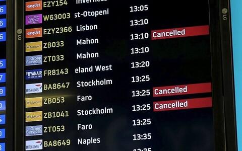Непогода внесла свои коррективы в расписание полетов.