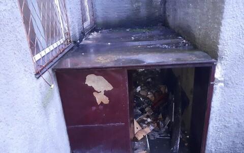 В Силламяэ сгорела подсобка.