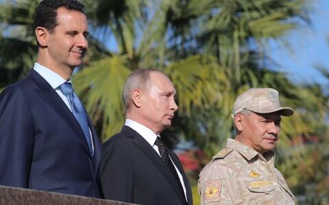 Слева направо: Башар Асад, Владимир Путин и Сергей Шойгу.