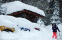 Paks lumi Prantsusmaal Val d'Isere'is.