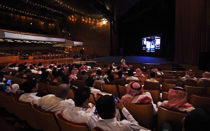 Saudi Araabia eliit käesoleva aasta oktoobris kuningas Fahadi nimelises kultuurikeskuses kinoseansil.