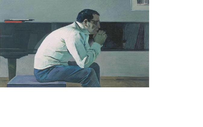 Tair Salahhov. Helilooja Kara Karajevi portree. 1960. Tretjakovi galerii