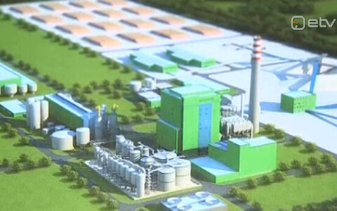 Render of the planned pulp mill.