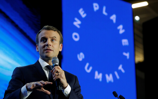 Prantsusmaa president Emmanuel Macron Pariisi tippkohtumise eel 11. detsembril.