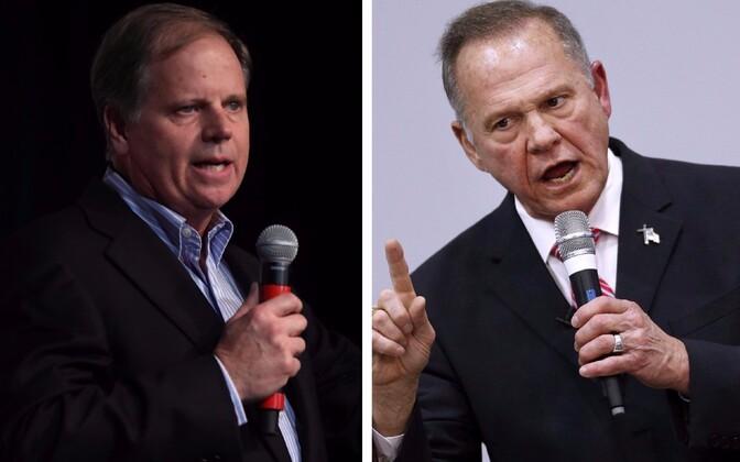 Demokraat Doug Jones (vasakul) ja vabariiklane Roy Moore.