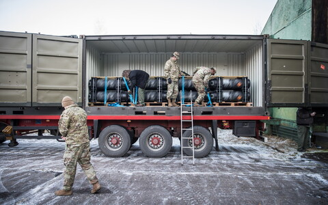 U.S. Javelin missiles sent to the EDF arrived in Estonia on Monday. Dec. 11, 2017.