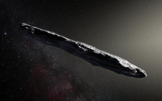 'Oumuamua kunstniku nägemuses.
