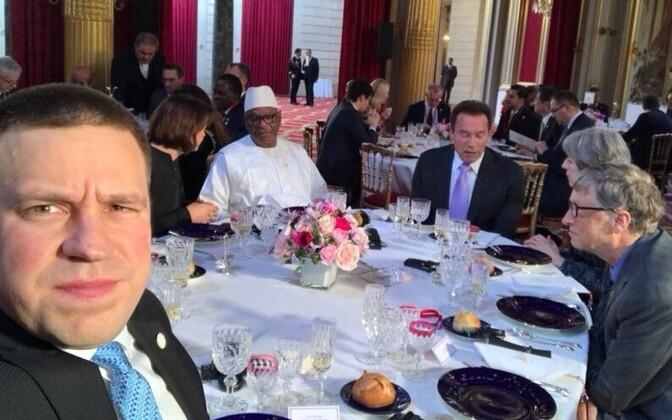 Peaminister Ratas osalemas Pariisi kliimakohtumisel.