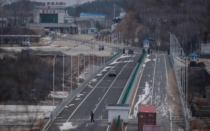 Hiina ja Põhja-Korea piir Rasoni lähistel.