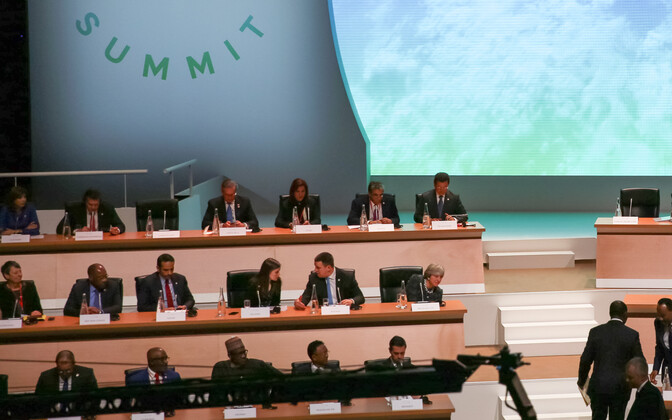 Prime Minister Jüri Ratas at the One Planet Summit in Paris on Tuesday. Dec. 12, 2017.