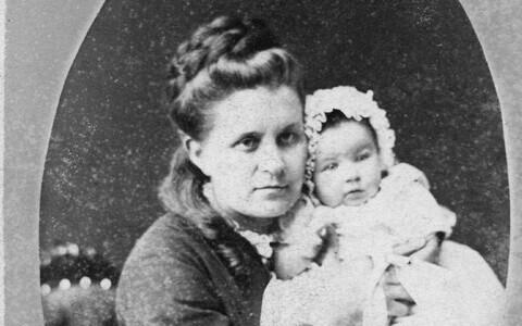 Lydia Koidula lapsega