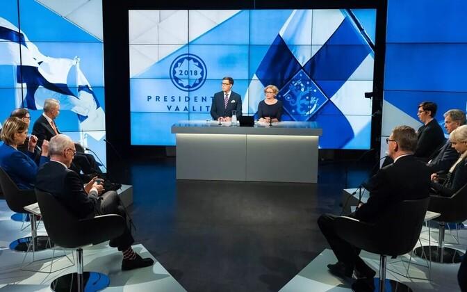 Soome presidendikandidaadid Yle stuudios.