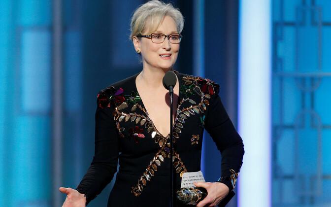 Maryl Streep aasta alguses Kuldgloobuste jagamisel