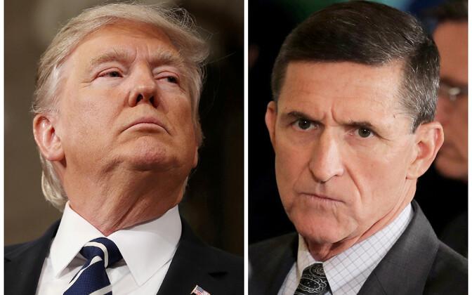 USA president Donald Trump ja endine rahvusliku julgeoleku nõunik Michael Flynn.