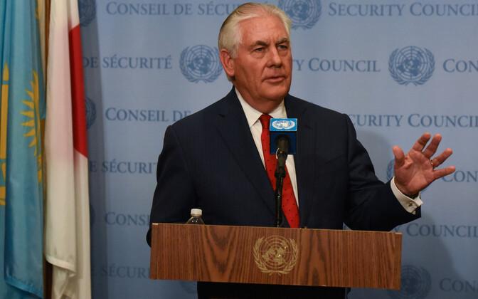 USA välisminister Rex Tillerson ÜRO-s Põhja-Korea teemalisel kohtumisel.
