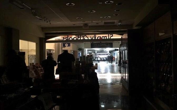 Atlanta lennujaam elektrikatkestuse ajal.