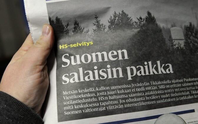 Laupäeval ilmunud Helsingin Sanomate artikkel Soome sõjaväeluure luureasutusest Tikkakoskil.