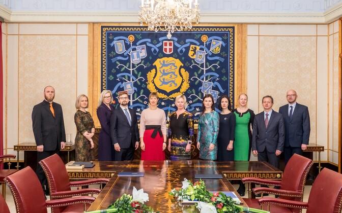 President Kaljulaid nimetas ametisse üheksa kohtunikku.