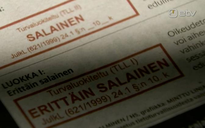 Salajased dokumendid ajalehes Helsingin Sanomat.