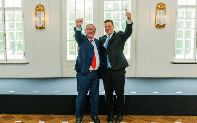 Jean-Claude Juncker and Jüri Ratas.