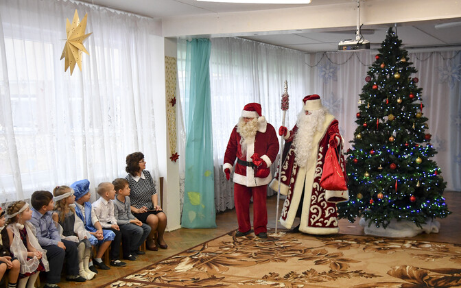 Jõuluvana ja Näärivana kohtumine Narvas