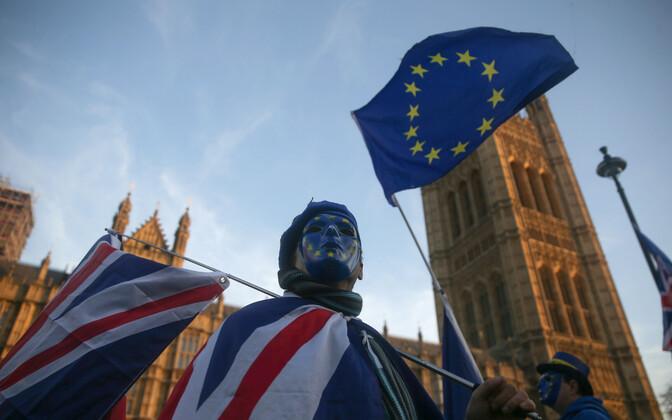 Brexiti-vastane meeleavaldaja Londonis.