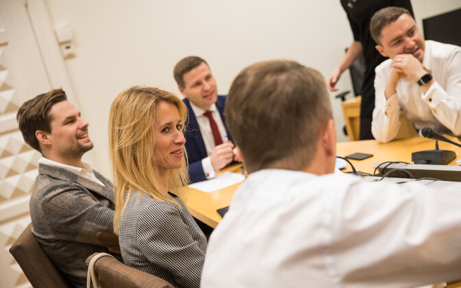 MEP Kaja Kallas at a Reform Party board meeting. Dec. 20, 2017.