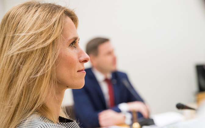 Kaja Kallas (left) accused Pevkur (right) in January this year of trying to move her from the Reform Party's Harju district list to a less popular one.