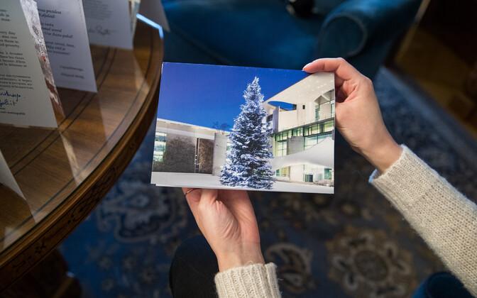 Pühad presidendi kantseleis, Angela Merkeli jõulukaart