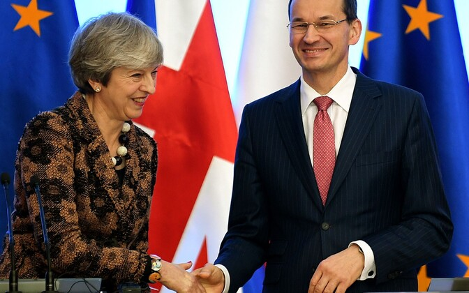 Briti peaminister Theresa May ja Poola peaminister Mateusz Morawiecki.