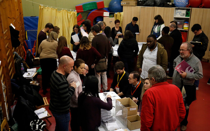 Counting votes in Barcelona, Dec. 21, 2017.