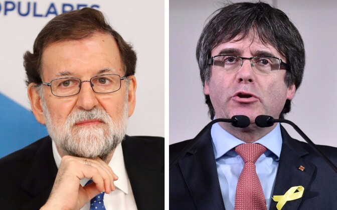 Mariano Rajoy ja Carles Puigdemont.