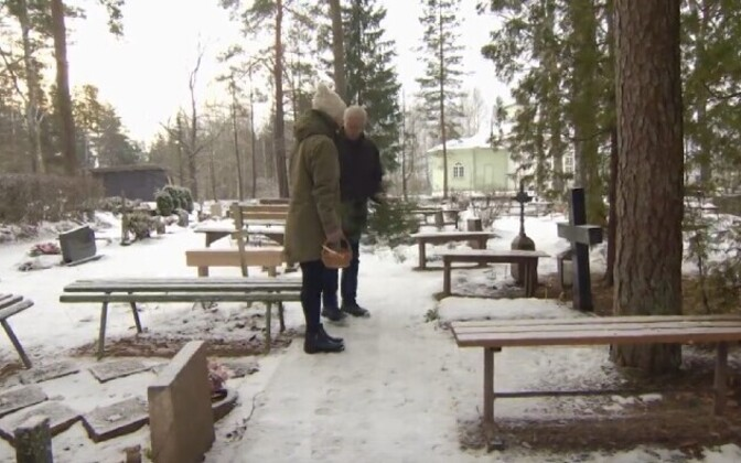 People visiting a graveyard in Southeastern Estonia. Photo is illustrative.