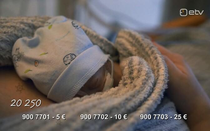 Enneaegselt sündinud laps.