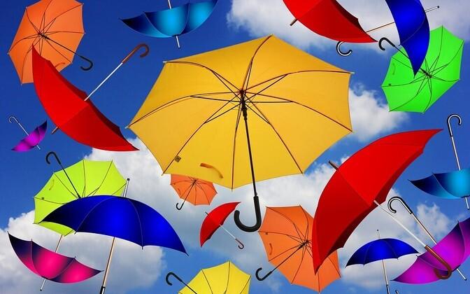 Зонты. Иллюстративная фотография.