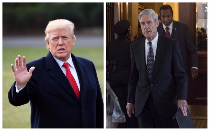 President Donald Trump ja eriprokurör Robert Mueller.
