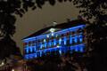 Stenbocki maja värvub tähtsate külaliste saabumise puhul Euroopa Liidu lipuvärvidesse.