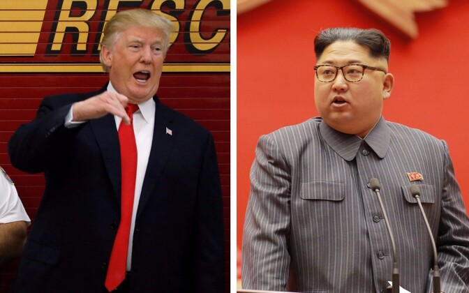 Donald Trump ja Kim Jong-un.
