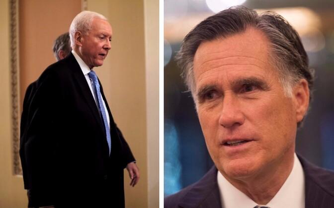 Orrin Hatch ja Mitt Romney.