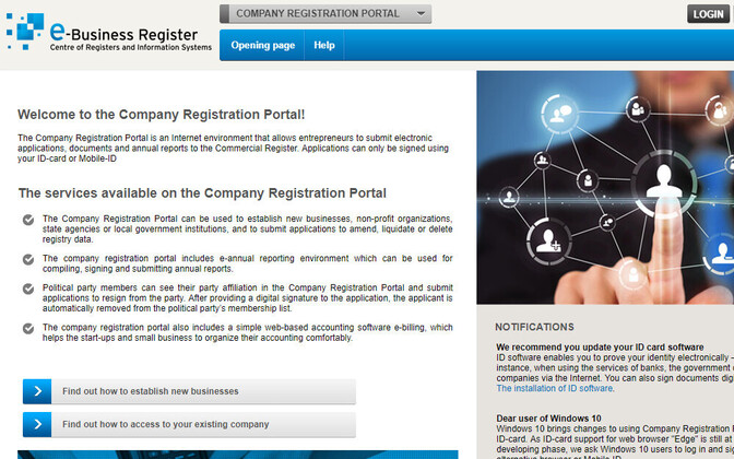 The RIK's Company Registration Portal.