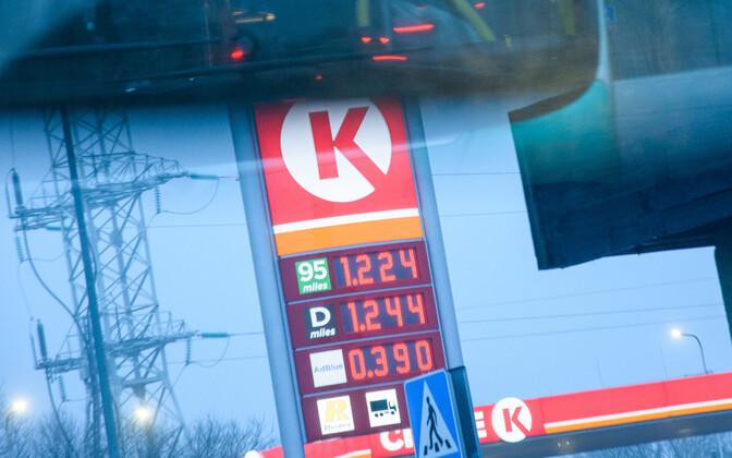 Цены на автозаправочных станциях 3 января.