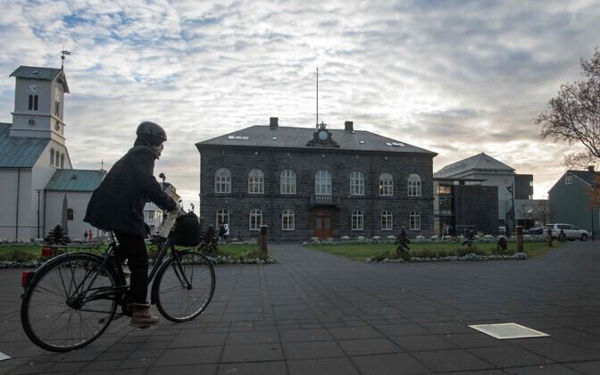 Islandi parlament ehk Althing pealinn Reykjavikis.