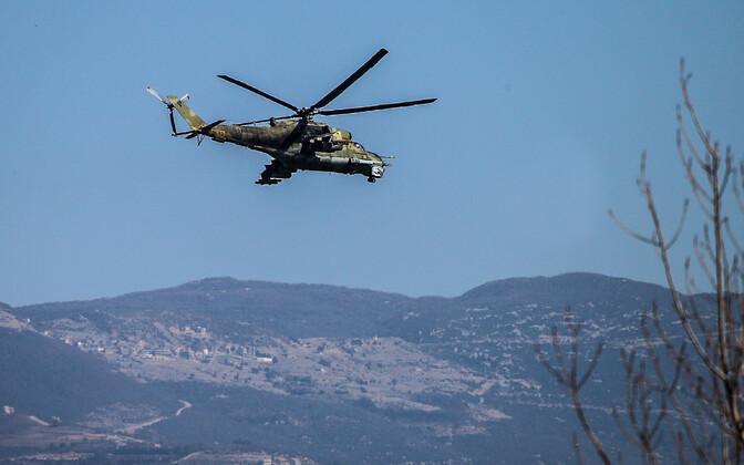 Vene helikopter Mi-24 Hmeimimi baasi lähistel, arhiivifoto.