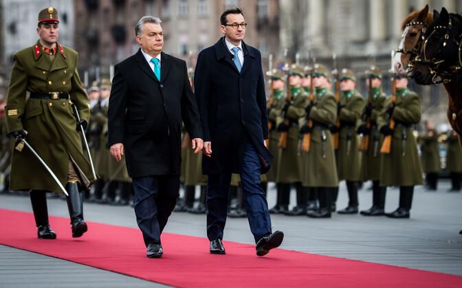 Ungari peaminister Viktor Orban ja Poola peaminister Mateusz Morawiecki.
