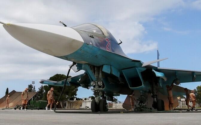 Российские военные на авиабазе Хмеймим.