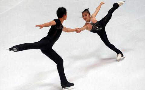 Paarissõitjad Ryom Tae-Ok ja Kim Ju-Sik