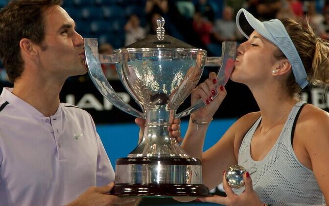Roger Federer ja Belinda Bencic