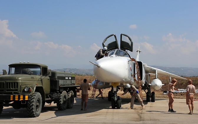 Vene väed Hmeimimi baasis Süürias.