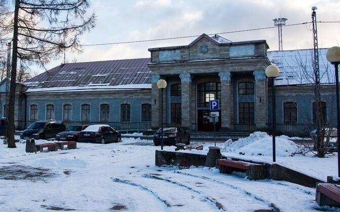 Нарвский вокзал.