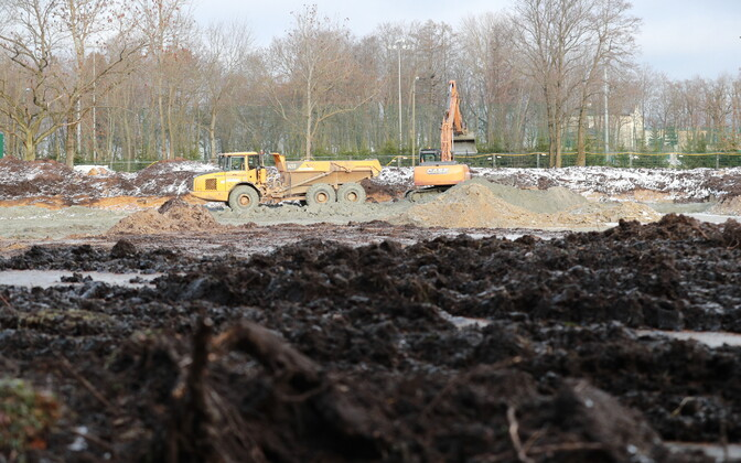 Construction site in Maarjamäe where the remains of the soldiers were found.